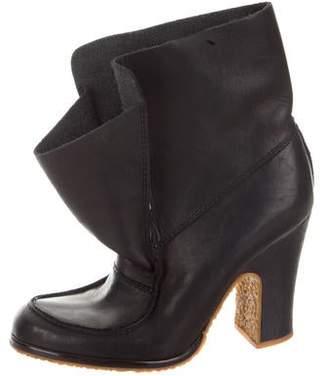 Maison Margiela Leather Mid-Calf Boots