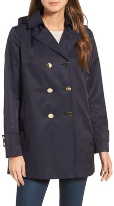 Women's Tahari Pleat Back Hooded Trench Coat $109.90 thestylecure.com