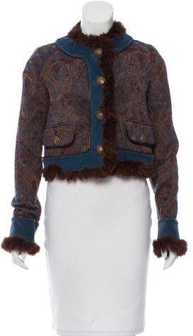 Dolce & GabbanaD&G Fur-Trimmed Jacquard Jacket