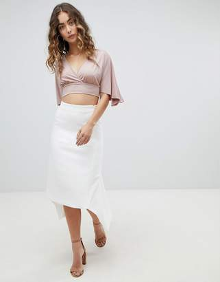 Asos DESIGN tailored occasion fishtail midi skirt