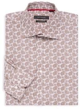 Contemporary-Fit Paisley Dress Shirt