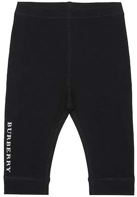 Burberry Printed stretch cotton leggings