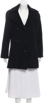Halston Wool-Blend Notch-Lapel Coat