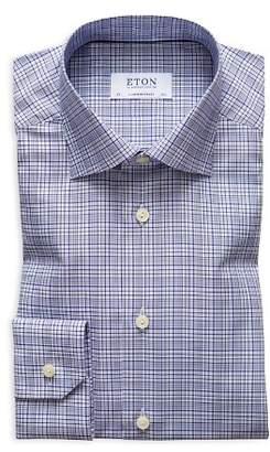 Eton Multi-Check Regular Fit Dress Shirt