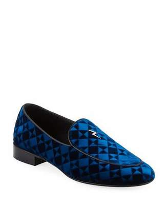 Giuseppe Zanotti Suit Patterned Velvet Loafer