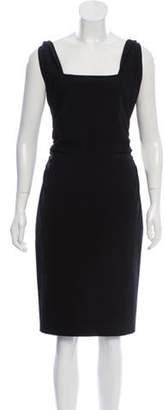 Valentino Wool Sheath Dress Black Wool Sheath Dress