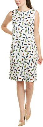St. John Silk-Blend Sheath Dress