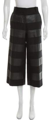 Alexander Wang Striped High-Rise Culottes