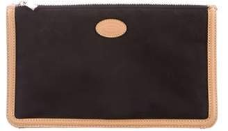Tod's Leather-Trim Zip Pouch