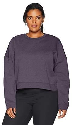 Core 10 Women's Plus Size Motion Tech Fleece Cropped Sweatshirt
