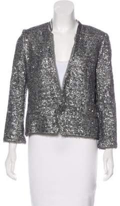Zadig & Voltaire Embellished Metallic Jacket