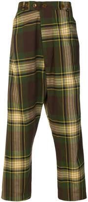 Vivienne Westwood tartan warped trousers