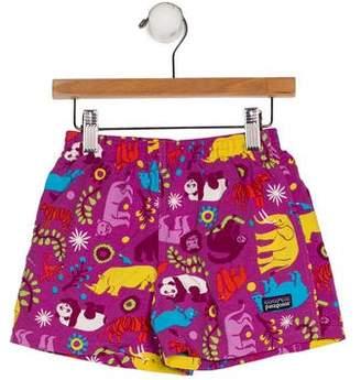 Patagonia Boys' Printed Swim Shorts