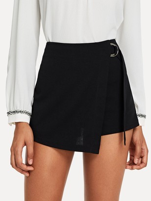 Shein Wrap Solid Knot Shorts