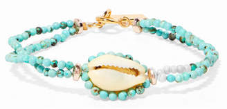 Isabel Marant Gold-tone, Bead And Shell Bracelet