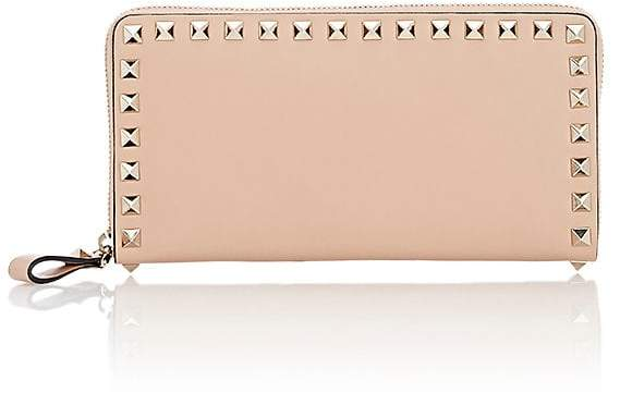 Valentino Garavani Women's Rockstud Leather Zip-Around Wallet