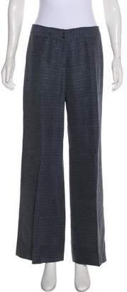 Giorgio Armani Linen Mid-Rise Pants