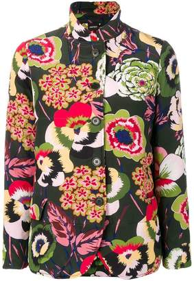 Aspesi floral fitted jacket