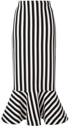 Saloni long striped skirt