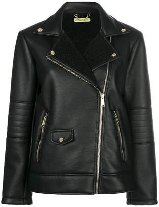 Versace zipped biker jacket