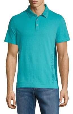 Calvin Klein Jeans Side Piece Logo Cotton Polo