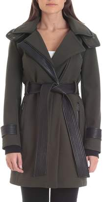Bagatelle Women's Sport Hooded Thermotech Belted Jacket