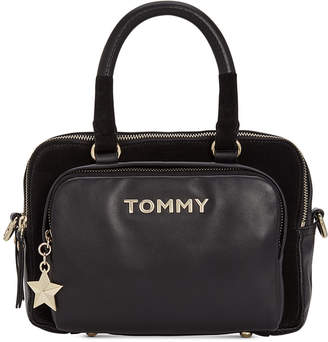 Tommy Hilfiger Corporate Highlight Leather & Suede Satchel