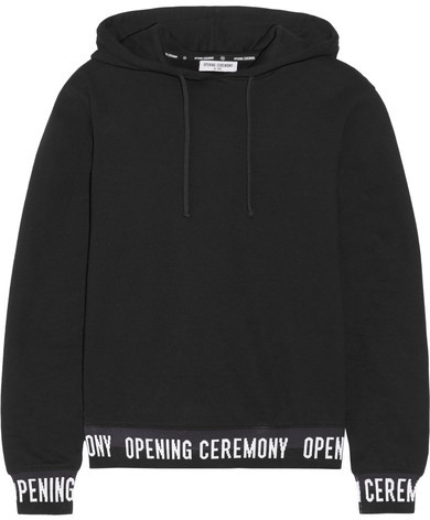 Opening CeremonyOpening Ceremony - Cotton-jersey Hooded Top - Black
