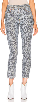 GRLFRND Karolina High Rise Skinny in Wild Cat | FWRD