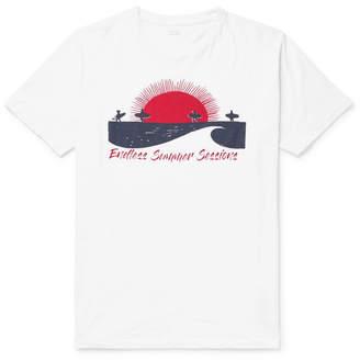 Hartford Slim-Fit Printed Slub Cotton-Jersey T-Shirt