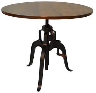 Carolina Chair & Table Reed Adjustable Crank Table - Chestnut/Black