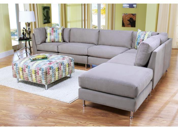 Cindy Crawford Home Barrington Mineral 6 Pc Sectional Livingroom