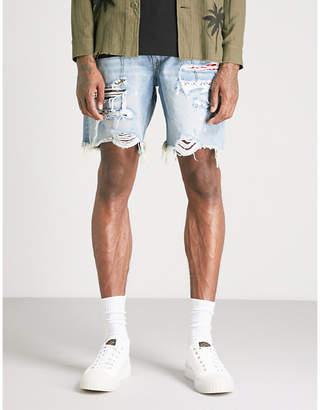 Amiri Distressed denim shorts