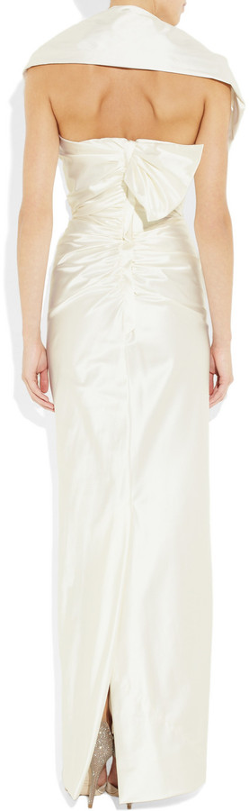 Vivienne Westwood Bellini silk-blend stretch-satin gown