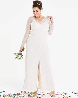 Joanna Hope Beaded Bridal Maxi Dress