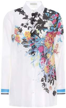 Etro Printed cotton and silk shirt