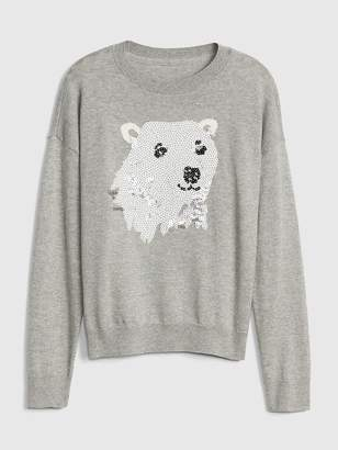 Gap Sequin Polar Bear Sweater