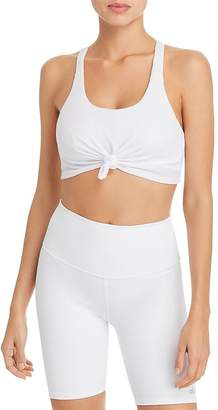 Alo Yoga Knot-Front Sports Bra