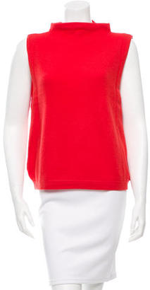 Inhabit Cashmere Mock Neck Vest w/ Tags $95 thestylecure.com