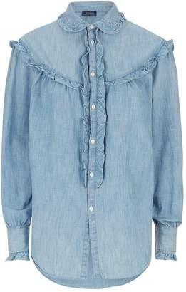 Polo Ralph Lauren Chambray Ruffle Shirt
