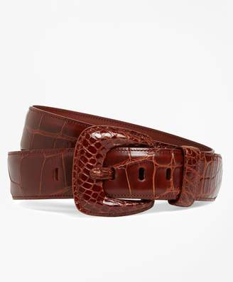 Brooks Brothers Alligator Wide Belt