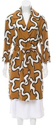Diane von Furstenberg Silk Patterned Coat