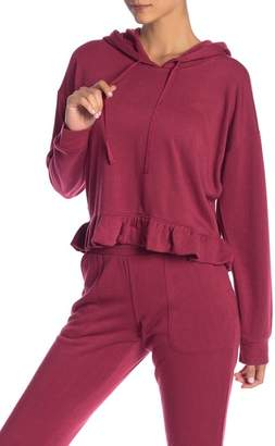 Free Press Flirty Fleece Ruffle Hoodie