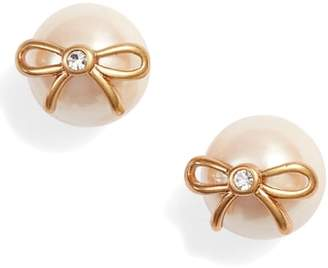 Kate Spade Bow Pearly Bead Stud Earrings