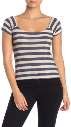 PST by Project Social T Cap Sleeve Striped T-Shirt