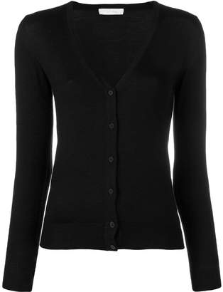 Cruciani V-neck fitted cardigan