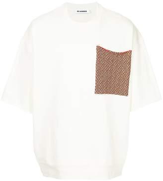 Jil Sander contrast pocket sweatshirt