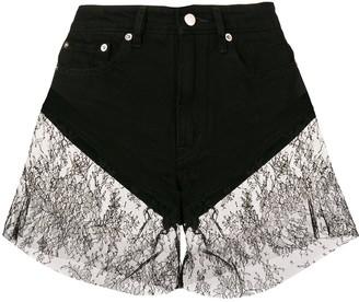 Almaz lace trim shorts