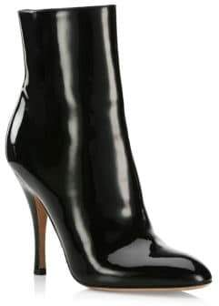 Valentino Pat Killer Stud Patent Leather Booties