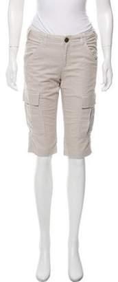 Current/Elliott Mid-Rise Knee-Length Shorts w/ Tags Beige Mid-Rise Knee-Length Shorts w/ Tags